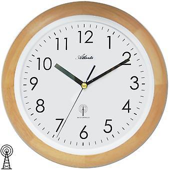 Atlanta 4323/30 Wall Clock Radio Radio Wall Clock analog Runde Træ Althe