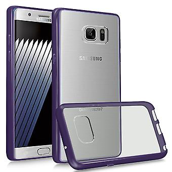 i-Tronixs Galaxy Note 7 Case Acrylic Gel WITH STYLISH COLOR FRAME LOOK-Purple