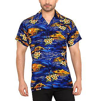 Club cubana men's regular fit classic short sleeve casual shirt ccc104