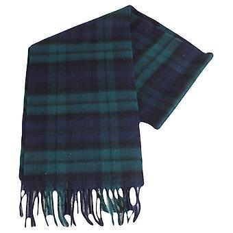 Locharron of Scotland Black Watch Modern Cashmere Scarf - Dark Green/Navy