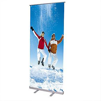 """Economy 32x79""""  Adjustable Height Retractable Roll up Banner Stand Trade Show Telescopic Sign Holder"""
