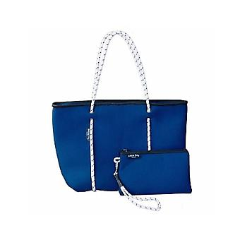 WILLOW BAY AU BOUTIQUE Neopreen Tote Bag - NAVY/WHITE