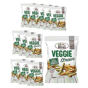 Essen Sie real Kale/Tomate/Spinat Chips - 12 Pack x 45gr