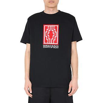 Marcelo Burlon Cmaa018e20jer0171001 Men's Zwart Katoen T-shirt