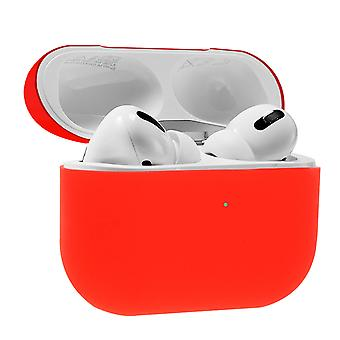 AirPods Pro Silicon Case Soft-touch Matt Effect Wireless Charging- Red