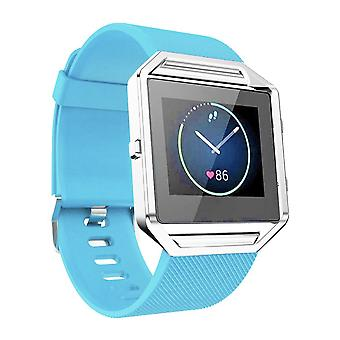 Replacement Wristband Bracelet Band Strap for Fitbit Blaze[Light Blue,Small]