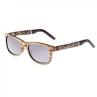 Earth Wood El Nido Polarized Sunglasses - Zebrawood/Silver