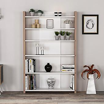Lance Color White Bookshelf, Drewno w melaminie Chip 97x27x150 cm