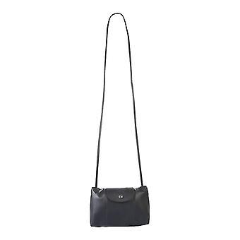 Longchamp 1061757001 Women's Black Leather Shoulder Bag
