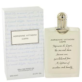 Capri Eau De Parfum Spray par Adrienne Vittadini 3.4 oz Eau De Parfum Spray