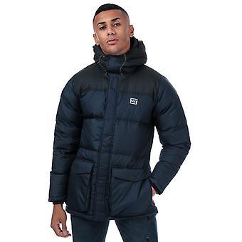 Men's Levis Down Puffer Parka Jacket in Blue