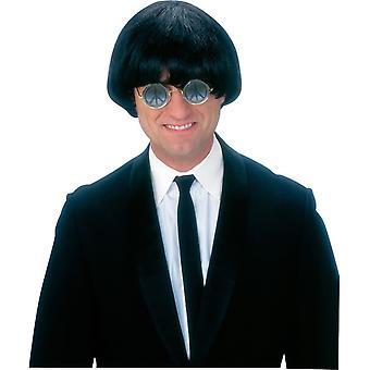 Membro della Band anni ' 60 nero parrucca per gli uomini