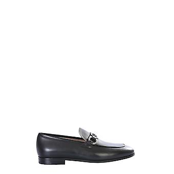 Salvatore Ferragamo 72362002c037 Men's Black Leather Loafers