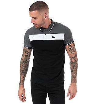 Men's Weekend Offender Empire Panel Polo Shirt in Black