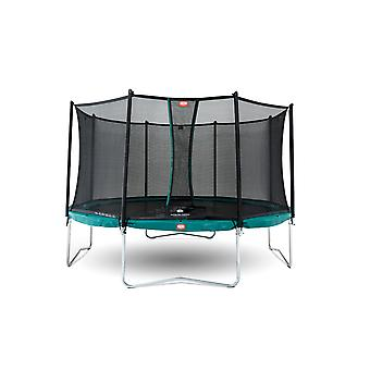 BERG Favorit Regular 330 11ft Trampoline Green With Safety Net Comfort
