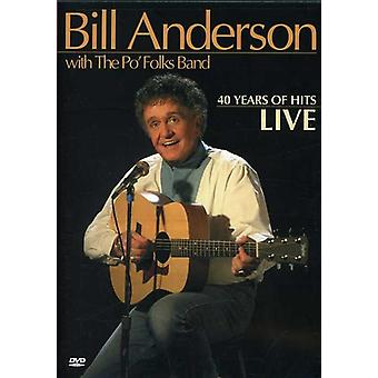 Bill Anderson - 40 Years of Hits [DVD] USA import