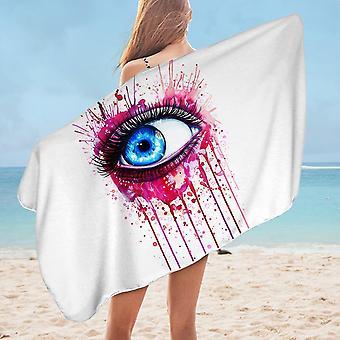 Art Painting Eye Microfiber Beach Towel