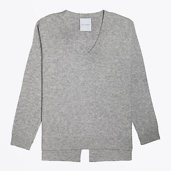 Delicate Love  - Cashmere Knitted Jumper - Grey