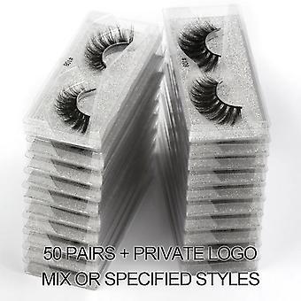 False Eyelashes Natural Mink - Makeup False Lashes In Bulk