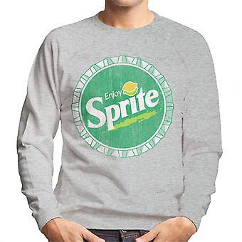 Njut av Sprite Lemon Lime retro Bottlecap mäns tröja