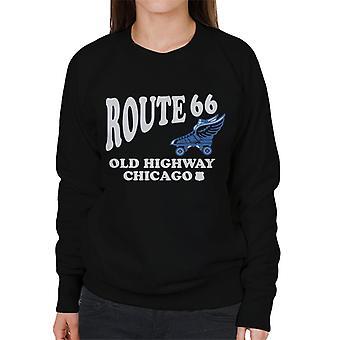 Route 66 Old Highway Chicago kvinnors Sweatshirt