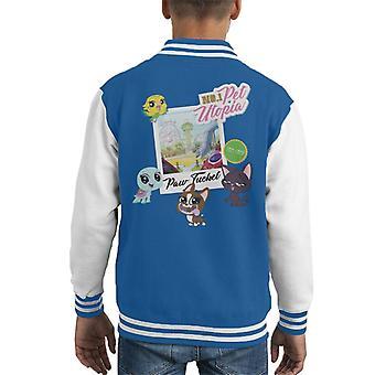 Littlest Pet Shop Paw Tucket Pet Utopia Kid's Varsity Jacket