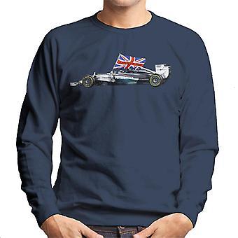 Motorsport Images Lewis Hamilton Yas Marina Circuit 2014 Men's Sweatshirt