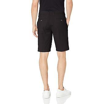 "Goodthreads Men's 11"" Inseam Flat-Front Stretch Chino Shorts, -black, 42"