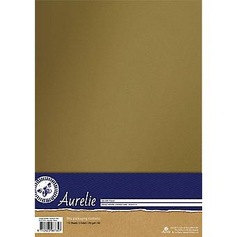 Aurelie Vintage Metallinen Cardstock Kulta