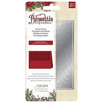 Crafter's Companion Poinsettia Perfection Snowflurry Die