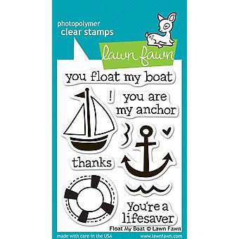 Lawn Fawn klare Briefmarken - Schwimmen mein Boot