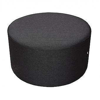 Rebecca Furniture Stool Feet Plate Acolchoado Tecido Preto 25x45x45