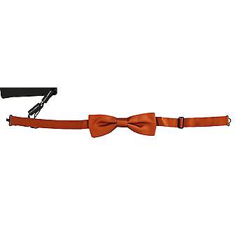 Dolce & Gabbana Men Dark Orange Silk Állítható nyakpapillon csokornyakkendő -- FT20484784