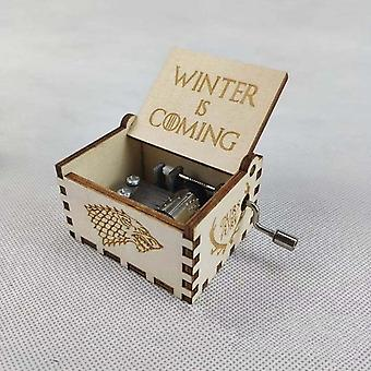 Hand Cranked Wooden Music Box - Harry Potter, Game Of Thrones And Star Wars