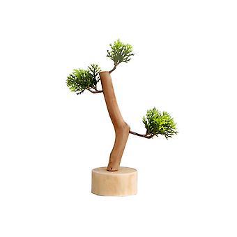 Wooden Fake Tree Shape Desktop Ornament