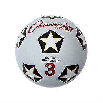 BA052P, Champion Sports Rubber Soccer Ball - Taille 4