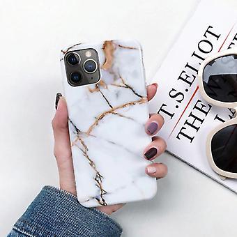 Moskado iPhone 8 Plus caso mármol textura - a prueba de choque funda de granito brillante Cas TPU