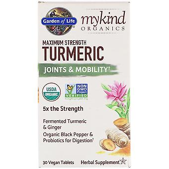 Garden of Life, MyKind Organics, Maximum Strength Turmeric, Joints & Mobility, 3
