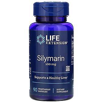Extensión de la vida, Silimarina, 100 mg, 90 cápsulas vegetarianas
