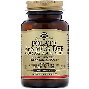 Solgar, Folate, 400 mcg, 250 Compresse