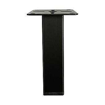 Zwarte vierkanten meubelpoot 10 cm (1 stuk)