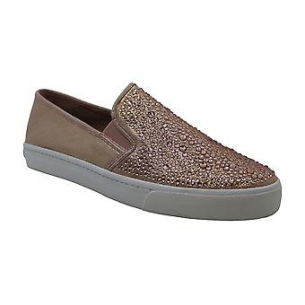 INC International Concepts Women's Shoes Sammee Leather Low Top Slip On Fashi...