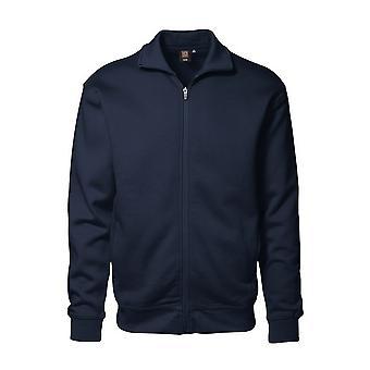 ID Mens Full Zip Regular Fitting Brushed Sweatshirt
