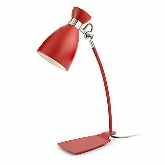 1 Leichte Retro Schreibtischlampe Weiß, Rot, E14