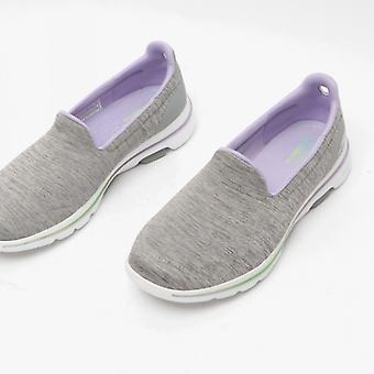 Skechers Go Walk 5 Ladies Slip On Trainers Gris/lavande