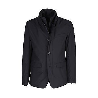 Herno Pi104ul111219300 Men's Black Polyester Outerwear Jacket