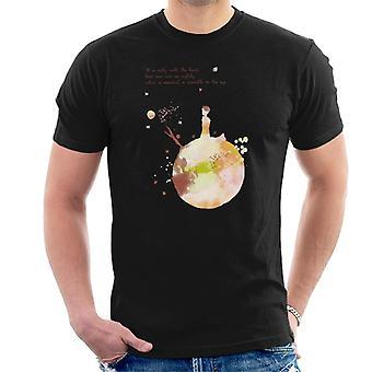 The Little Prince Autumn Colours Heart Quote Men's T-Shirt