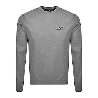 EA7 Emporio Armani Core Logo Sweatshirt - Medium Grey Marl