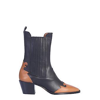 Paris Texas Px173dblackleather Women's Black Leather Ankle Boots