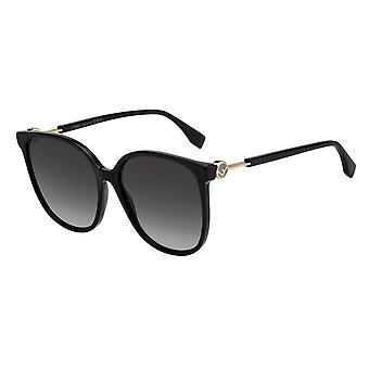Fendi FF0374/S 807/9O Black/Dark Grey Gradient Sunglasses